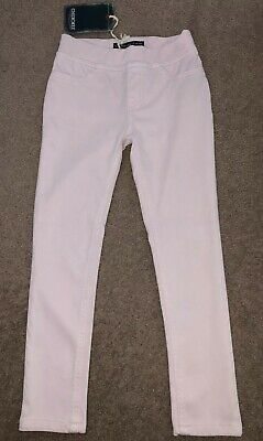 Pale Baby Pink Stretch Skinny Jeans Jeggings by Cherokee. 7-8 Years. BNWT NEW