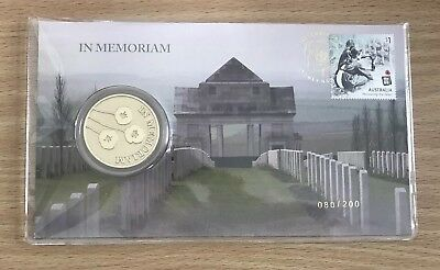 2018 In Memoriam Medallion WW1 PNC Christmas Impressions  Limited Edition 200