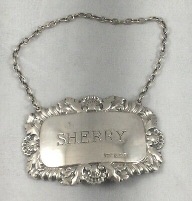 Fancy Sherry English Sterling Liquor Label