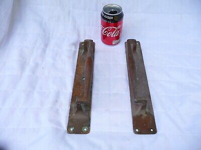 Antique Pair Art Deco Bronze Door handles shop pulls 1920s/30s Pub Cafe 12""