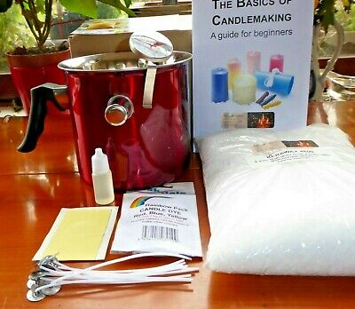 The Complete Candle Making Kit, wax fragrance dyes wicks thermometer, safety pot
