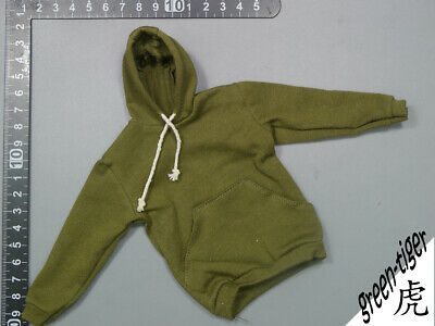 A803 1:6 Scale ace action figure parts Olive green hoody hoodie Street style