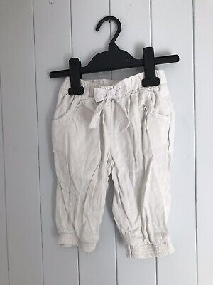 Girl's trousers size 2-3 years white linen mix NEXT