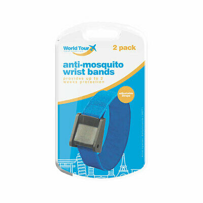 2 Pack Anti-Mosquito DEET Wrist/Ankle bands 2 Weeks Insect Repellent