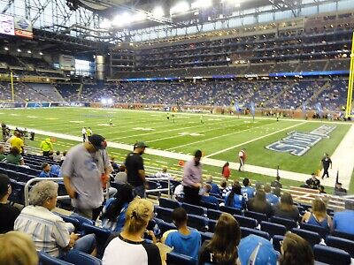 Detroit Lions Vs Tampa Bay Buccaneers Tickets (Row 10) Lower Bowl