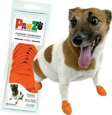PawZ Protex Dog Boots Water-Proof Paws Disposable Reusable X-Small Orange (A3~2)