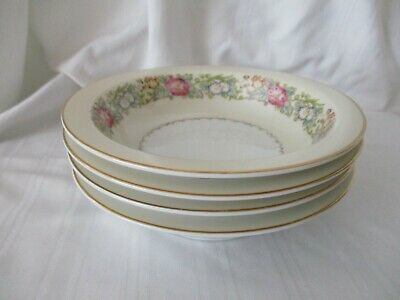 Spoto Made in Occupied Japan 1945-52 lot of 4 dessert fruit bowls pink flowers