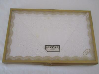 Vintage UNUSED BOXED SHEET SET 228cmx251cm  Cotton Embroidered Permawink
