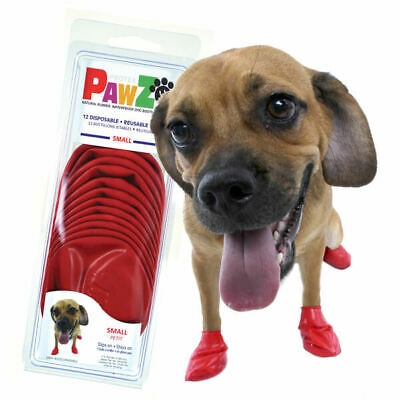 PawZ Protex Dog Boots Water-Proof Paws Disposable Reusable Small Red (A3~3)