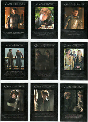Game Of Thrones Season 4 The Quotable Game Of Thrones Insert Set Q31-Q39 (9)
