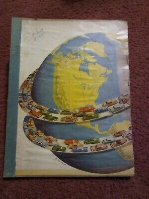 Vintage 1952 scrap book made by student for school project (?) Ephemera