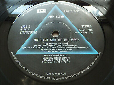 Pink Floyd - Dark Side of the Moon // Orig UK Harvest '73 A3/B3 LP Nice copy