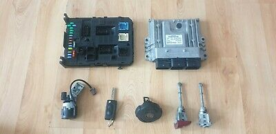 PEUGEOT 407 1 6 Hdi Ecu Kit Bsi Lock Set & Key 0281011633