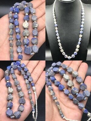Excellent Rare Ancient Roman Lapis Beads Strand #Sa47