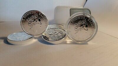 2016 GB 2 oz Silver Queen's Beasts Lion - BU Mint Roll (20 oz) 10 lot FREE SHIP!
