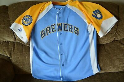 Milwaukee Brewers Cooperstown Collection 1982 World Series Jersey Size Adult XL