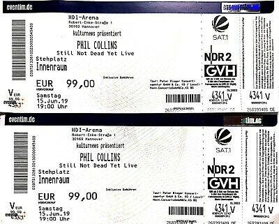 2 Tickets Phil Collins Konzert - Hannover 15.06.19