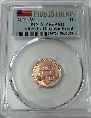 2019-W PCGS PR69 LINCOLN CENT REVERSE PROOF FIRST STRIKE PR 69 LIVE #Sa385
