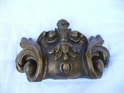 Antique French Large Brass Architectural Furniture mount Hardware Fitting Old