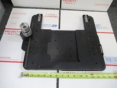 LEICA DMRB GERMANY LARGE STAGE SPECIMEN TABLE MICROSCOPE PART as pictured &61