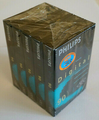 Pack of 5x 90min Philips DCC Digital Compact Cassette