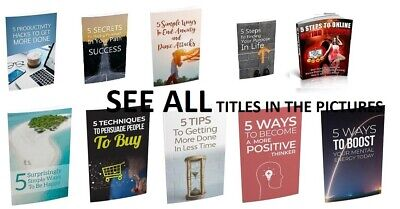 100 Self help eBooks With Resell Rights ( Only 2 ¢ per Book ) PDF - see titles