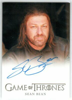 Game Of Thrones Season 4 Sean Bean As Lord Eddard Ned Stark Autograph Limited