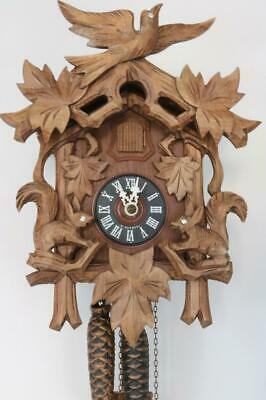 HUBERT HERR CUCKOO CLOCK circa 1992 COMPLETE needs attention