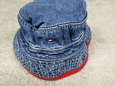 2751f676 Vintage Tommy Hilfiger Baby Toddler Kids Boy Girl Bucket Hat Jean 601