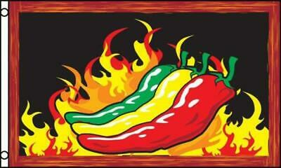3'x5' Chili Peppers Flag Banner Chilli Chile Hot Mexican Restaurant Spicy 3x5