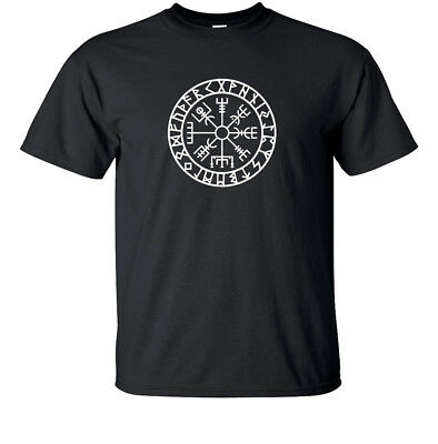 Viking T Shirt Vegvisir Symbol of Protection And Guidance Tee Present Gift Idea