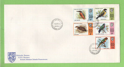 Br. Solomon Islands 1975 Birds commemorative set on First Day Cover