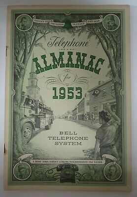 Vintage 1953 TELEPHONE ALMANAC Bell System American Telephone Telegraph Co. RARE