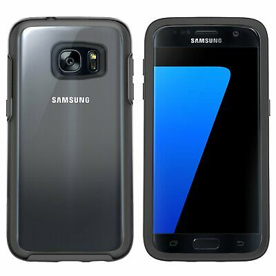 OtterBox Samsung Galaxy S7 Symmetry Clear Cover Case & Tempered Glass Black