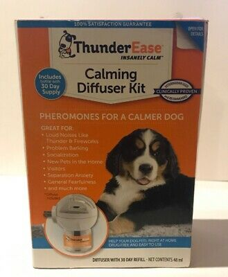ThunderEase Calming Diffuser Kit Pheromones  For A Calmer Dog Damage Box 07/22