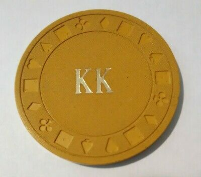 K K Bar Location Unknown .50 Cent Old Chip Great For Any Collection!