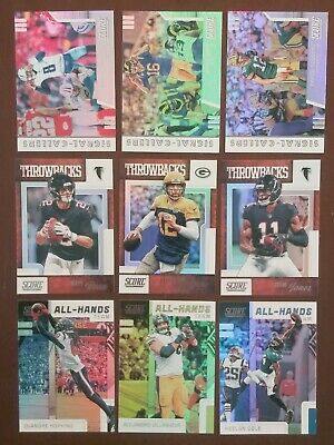 2019 Score Football Signal Callers All Hands Throwbacks Epix Inserts - You Pick