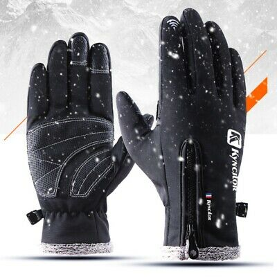 Winter Thermal Ski Gloves MEN Windproof Snowboard Snow Motorcycle Skiing Gloves