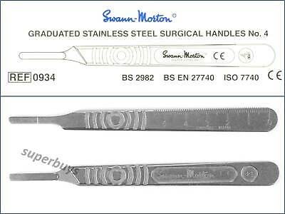 Swann Morton No. 4 Stainless Steel Scalpel Handle For 18 To 36 Surgical Blades