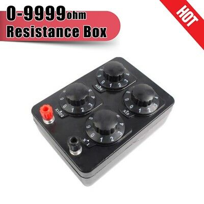 Resistance Box Precision Variable Decade Resistor Resistance Box 0-999 Ohm Tools