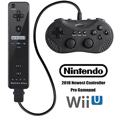 Built in Motion Plus Wiimote Remote Controller+Gamepad For Nintendo Wii &Wii U