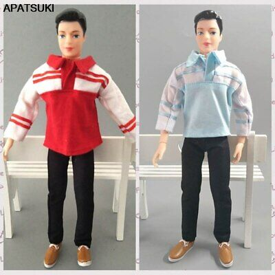 1/6 Boy Doll Clothes Top Shirt & Black Trousers Pants For Ken Doll Clothes Toy