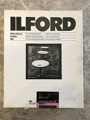 Ilford Multigrade III RC Deluxe MGX1M Glossy Photo Paper 8 x 10, 100 Sheets