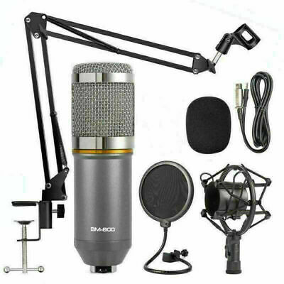 BM-800 Condenser Microphone Studio Recording Mic W/ Stand Shock Mount NEW US