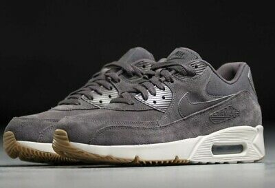 f348a7ab01 NIKE AIR MAX 90 Ltr Gs 833412-001 Leather Black On Black Youth Boys ...