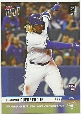2019 Topps Now Vladimir Guerrero Jr. RC #137 MLB Debut 1st Career Hit Blue Jays