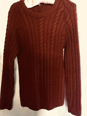 Vintage Hand Knitted Jumper Cabled Small