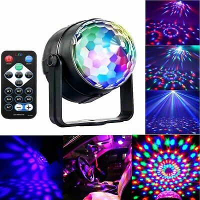 USB LED RGB Disco Ball Strobe Light Parties Birthday DJ Stage Car Portable Lamp