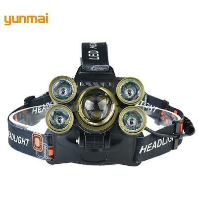 Zoomable 35000 LM Military Head Lamp -T6 + XPE LED Headlamp Head LJ