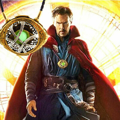 Dr Doctor Strange Eye of Agamotto Necklace Antique Pendant Cosplay Time Stone